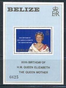 BELIZE 524 SG#MS593 MNH 1980 $5 Queen Mother Birthday Souvenir Sheet Cat$19