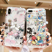For iPhone X XS Max XR 6 7 8 Plus Disney Cute Minnie Mickey Phone Case Cover