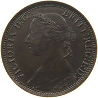 GREAT BRITAIN FARTHING 1893 TOP VICTORIA #a02 505