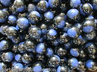 "MARBLES 2 POUNDS 7/8"" BLACK & BLUE RAINBOW MARBLE KING MARBLES FREE SHIPPING"