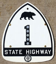 California reflector bear route 1 highway road sign Pacific Coast Highway DPW