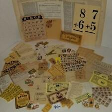 75 piece ephemera paper neutral tan color lot vintage tickets stamps labels W