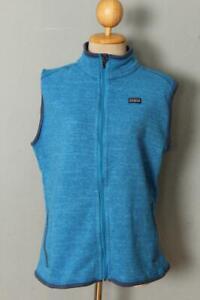 Womens PATAGONIA Fleece Windbreaker Vest Gilet XLarge