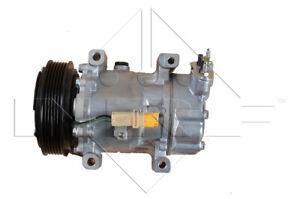 NRF Kompressor SD6V12 Klima mit PAG ÖL + Riemenscheibe für Peugeot Fiat Citroen