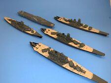 5x Vintage Wwii Minic Hornby / 3X M744 Yamato / M742 Bismarck / M751 Hms Bulwark