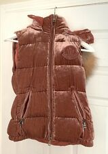 Moncler Gallinule Gilet Velvet Medium PINK Fur Hooded Vest NWT MSRP $1650 RARE