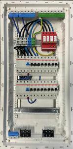 Unterverteilung Verteiler Sicherungskasten  bestückt verdrahtet, Dehn952400, ABB