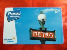 RARE TELECARTE - OUTREMER TELECOM - METRO - VILLE - 5€ - LUXE - 40000 ex