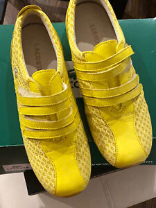 Lacoste NEW Yellow Ladies Sneakers Size 7.5