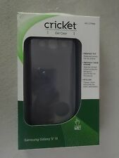 Cricket Samsung Galaxy S III Gel Case Gray SKU CTP885 Brand New