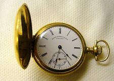1909 14K Solid Gold Henry Birk's St James 15j Ladies Longines Pocket Watch