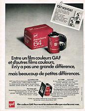 PUBLICITE ADVERTISING 035  1970  GAF   les fims couleurs