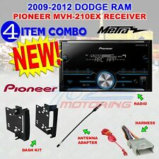 CHRYSLER-JEEP-DODGE PIONEER Bluetooth USB Double Din AM/FM Stereo +Kit /Harness