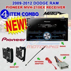 2009-2012 DODGE RAM PIONEER BLUETOOTH USB AUX EQ Double Din Car Radio Stereo PKG