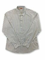Barena cotton casual shirt in blue and white stripe L
