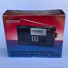 Sangean ATS-803A Direct Key-in World Receiver with Quartz Alarm Clock Timer