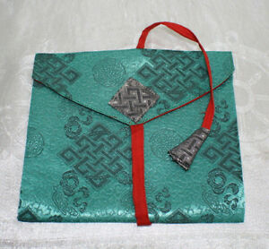 Buchtasche Stoffcover Buchhülle Nr.16 S  Geschenkverpackung TIBET INDIEN NEPAL