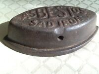 Vintage Asbestos SAD IRON Cast Iron Clothes Iron c.1880