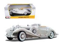 1/18 Maisto 1936 Mercedes Benz 500K Special Roadster Diecast Model White 36055