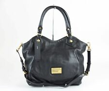 MARC JACOBS Black Leather Classic Q Fran Satchel Bag