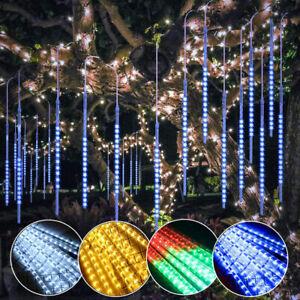 LED Météore de Pluie Guirlande Lumineuse Lumière Multicolore Noël Arbre Décor