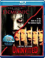 Total Terror Double Feature: Demonic / Uninvited - Blu-ray Disc Tom Savini - NEW