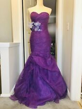 Women Love Evening Prom Formal Ball Long Purple Dress Gown Size 4 NWT
