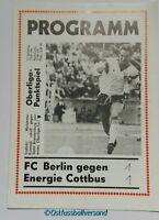 Programm 1990 BFC Dynamo Berlin BSG Energie Cottbus DDR Oberliga DFV MFS Stasi