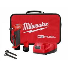 Milwaukee Right Angle Die Grinder Kit 1/4 in. Cordless 2.0Ah Batteries Brushless
