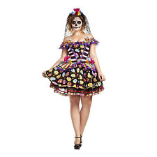 Sugar Skull Senorita Adult Women's Day of the Dead Plus Size Halloween Costume