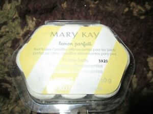 Mary Kay Lemon Parfait Fizzy Balls for Feet:  10 Count NEW ~~Ships FREE