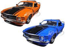 1970 FORD MUSTANG BOSS 429 BLUE & ORANGE SET OF 2 CARS 1/24 JADA 98026-98030 SET