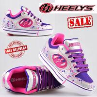 Heelys Motion Plus Kids Girls Junior Roller Skates Wheels Trainers Shoes UK Size