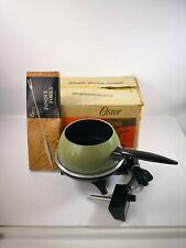 New Oster Electric Fondue 680-05 Avocado Green 6 x Forks Original Box Made USA