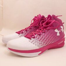 Under Armour Pink White Clutchfit Drive 3 Charged Basketball Shoes Size 18