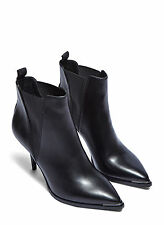 ACNE STUDIOS Black Jens Heeled Ankle Boots Size UK6 EU39 RRP £390