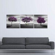 Canvas Print Painting Picture Home Decor Landscape Purple Tree Gray Art Poster