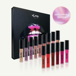 Klara Cosmetics Kiss Proof Lips Unstoppable Collector Collection long last matte