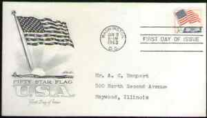 US. 1208. 5c. Flag over White House. Artmaster FDC. 1963