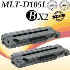 2 PK MLT-D105L Toner Cartridge For Samsung SCX-4600 4623F SCX-4623FN SCX-4623FW