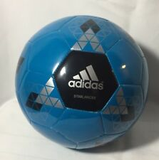 Adidas Performance Starlancer V Soccer Ball Size 3 Solar Blue Black New