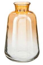 13cm Orange Shade Glass Flower Vase Planter Ornament Home Dine Bar Decor Rose UK