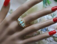 Art Deco Vintage Jewellery Gold Ring opal white sapphires Antique Jewelry R
