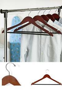 Wooden Suit Hangers Skirt Lot Clothes Pant Coat Vintage Dress Non Slip 24 Pack