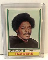 1974 Topps Football Card #14 Jack Tatum Oakland Raiders