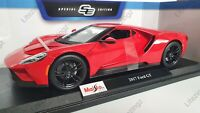 MAISTO 1:18 Scale Diecast Model Car - 2017 Ford GT in Red