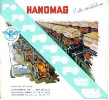 Hanomag Range Tractor + Caterpillar original Swedish Sales Brochure 1954 SP/6/1