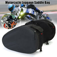 2pcs Motorcycle Side Saddle Bag Panniers Package Luggage Waterproof   L @L