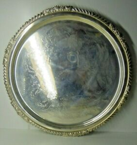 VINTAGE HEAVY STRACHAN REPRODUCTION SERIES TRAY EPNS SILVER PLATE
