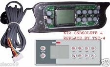 LA Spas Topside control keypad Gecko TSC-72 / K-72 PL-49775 10-butt.  $CAD price